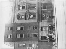 Seamen outside Dumbar House, West India Dock Road - Year 1920