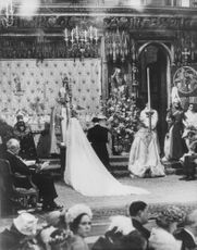 Man and woman belonged to a royal clan on their wedding ceremony.  - 1963
