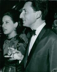 Prince Michael of Greece with his wife Marina Karella on his side.