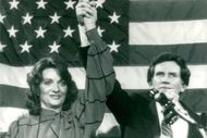 Senator Gary Hart along with his wife Lee during the election campaign