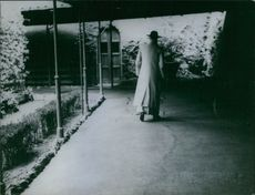 Pope Pius XII pictured walking.