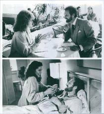 "Scenes from the film ""A New Life"", with Alan Alda as Steve, Ann-Margret as Jackie and Veronica Hamel as Kay, 1988."