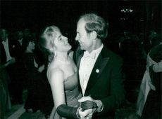 The chemist Dudley R. Herschbach is dancing with one of his daughters