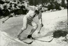 Skier Melker Risberg during the Winter Olympics in Innsbruck in 1964