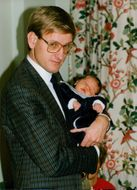 Carl Bildt with the five-day-old son Nils