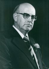 Vintage photograph of Pieter Willem Botha. 1977.