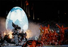 Urnorsk opening of the 17th Winter Olympics in Lillehammer