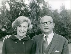 A portrait photo of Edgar Faure and his wife Lucie Faure taken in December 10,1967.