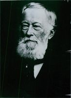 Historic portrait of German Industrialist and founder of the Krupp's steel works in Essen, Alfred Krupp.