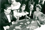 """Actress Brooke Shields is a surprise guest at """"Celebrity Monte Carlo Night"""""""