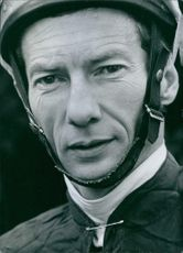 Close up of British Jockeys Lester Piggott