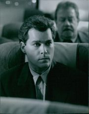 """A photo of Ray Liotta as Ryan Weaver in the film """"Turbulence"""". 1997."""
