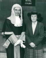 Judge Reginald Lockett with his wife edna.