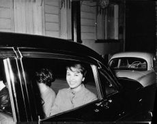 Princess Soraya sitting in car.