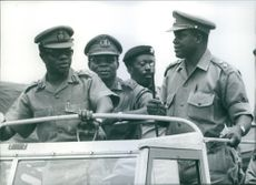 Ignatius Acheampong with some commissioners travelling in a vehicle in street.