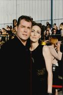 Portrait image of actor Ray Liotta and his wife Micelle taken in conjunction with the MTV Movie Awards.