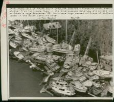 Hurricane Hugo jumbled boats