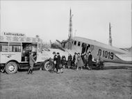 Junkers G 24, which was included in Lufthansa commuter traffic 1926-1935. - Year 1928
