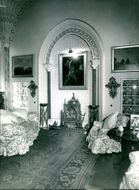 The Fireplace in the Saloon.