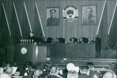 Zhou Enlai, Vice - Chairman of the National Committee, made a political report at the 4th session of the first National Committee of the Chinese People's Political  Consultative Conference