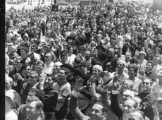 People gathered to catch a glimpse of Pope Paul VI.
