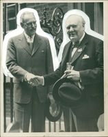 Winston Churchill with Mr. Dean Acheson