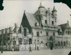 A historical edifice in Belgium. 1914.