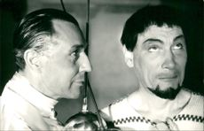 Georg Rydeberg and Egon Larsson in the film Can-Can at the Oscars Theater