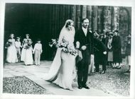 Photography from the wedding between Lord Alec Douglas-Home and Elizabeth Allington