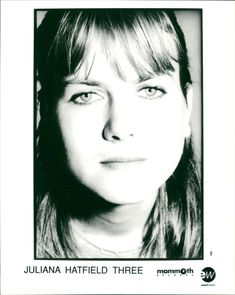 Portrait of Juliana Hatfield, founder of musical group