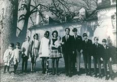 """Robert Francis """"Bobby"""" Kennedy standing with his family."""