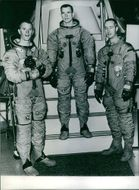 Picture of American astronauts Rusell Schweickart, David Scott and James McDivitt.