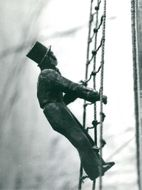 Maritime Museum: The Great Picture Hunt. The figure climbs in mast ladder
