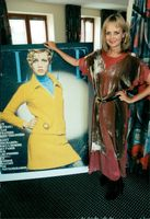 The actress and the model Twiggy