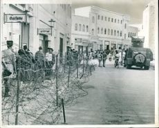 A view of a street running behind the general post office.