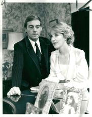 Patricia Hodge with her husband peter owen.