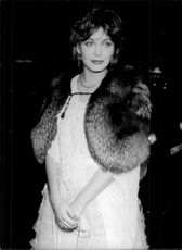 Lesley-Anne Down on a film premier