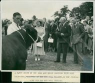 Royal Norfolk Show: The King and Queen with Lord Cranworth