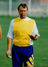 Football coach Nisse Andersson during the Olympic Games in Barcelona.