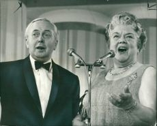 Harold Wilson Former British Prime Minister and mussels.