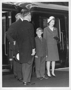 The Queen and Prince Andrew at Kings Cross Station.