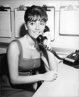 Anna Maria Alberghetti smiling on phone call.