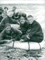 """Jack Hawkins in the role of Lieutenant Erickson in the movie """"The Cruel Sea"""""""