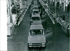 Tofas Production Line, a Turkish automobile industry, 1979.