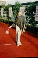 Actress Sharon Stone at the Golden Globe awards ceremony sponsored by the Hollywood Foreign Press Association