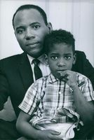 James Meredith with his son.