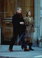 Dolph Lundgren with his girlfriend in Paris.