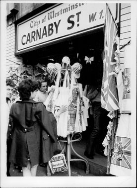 A tourist shop on Carnaby Street in London