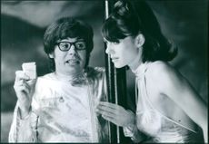 """Mike Myers and Elizabeth Hurley in the 1999 movie, """"Austin Powers: The Spy Who Shagged""""."""