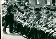 Field Marshal Lord Montgomery inspects pensioners